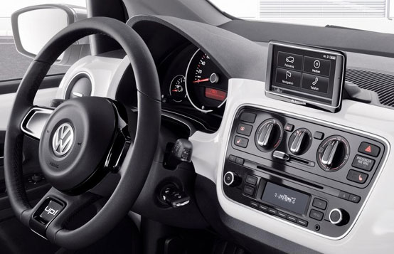 infotainment system im neuen vw up kommt von navigon. Black Bedroom Furniture Sets. Home Design Ideas