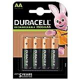 Duracell Recharge Ultra AA Mignon Akku Batterien LR6 2500 mAh, 4er Pack