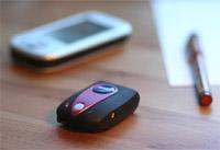 Kurztest des kleinen Bluetooth GPS-Empfängers..
