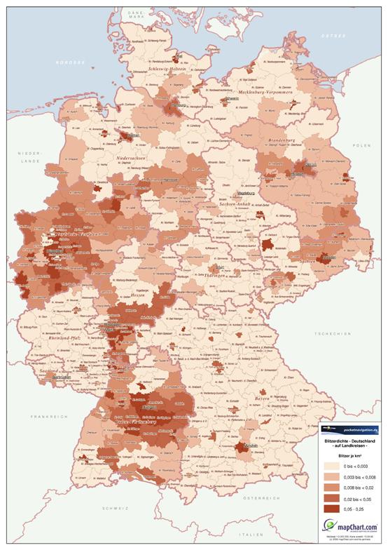 Blitzer, Radarfallen, POI-Warner, POIbase - Blitzerkarte Deutschland - 1