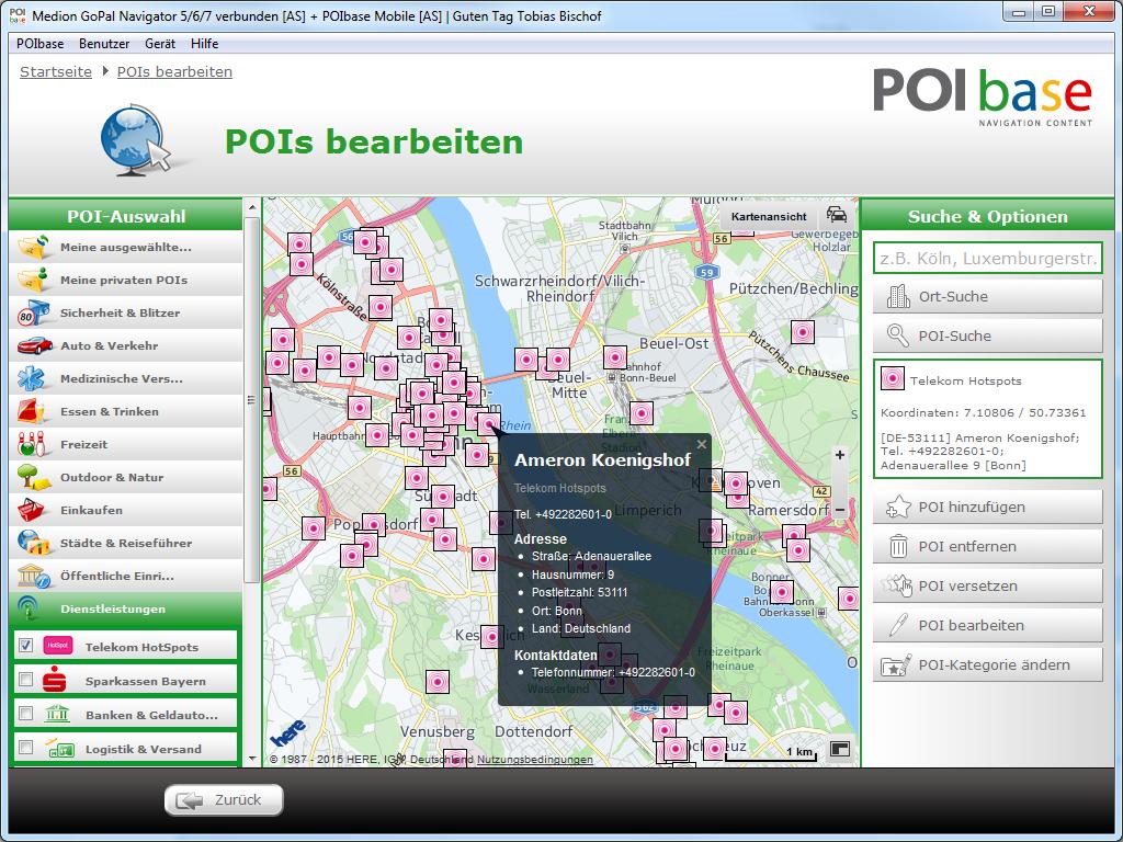 telekom hotspot karte Telekom HotSpot POIs › pocketnavigation.de | Navigation | GPS