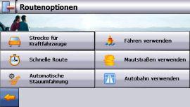 MEDION MD 96050 (PNA465) mit GoPal 2.0 AE - Routenoptionen - 1