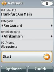 MN7 für Symbian S60 3rd - Benutzerführung und Zieleingabe (6181) - 2