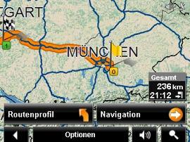 NAVIGON 2200 / 2210 - Reality View und Fahrspur-Assistent Pro, Routenoptionen (6323) - 1