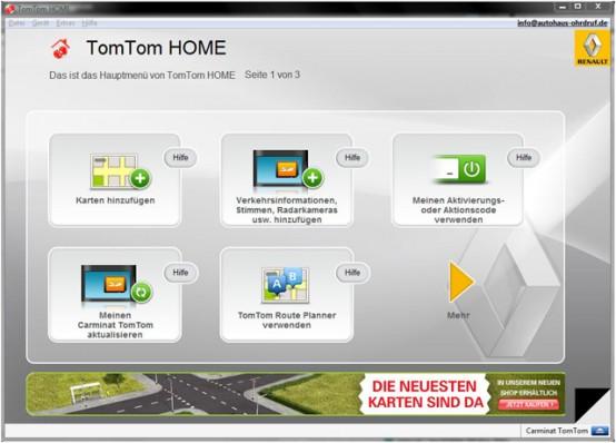 Renault Carminat TomTom - Zur Software - 1