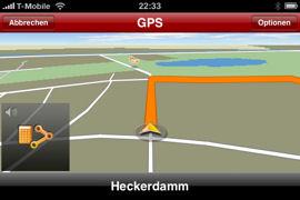NAVIGON MobileNavigator fürs iPhone - GPS Empfang - 1