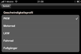 NAVIGON MobileNavigator fürs iPhone - Routenoptionen - 2