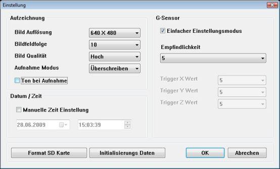 GNS 4720 Drive Recorder - Anpassen der Software für die Auswertungen - 1