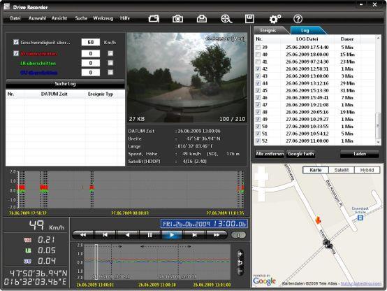 GNS 4720 Drive Recorder - Die mitgelieferte Software - Teil 2 (6983) - 1
