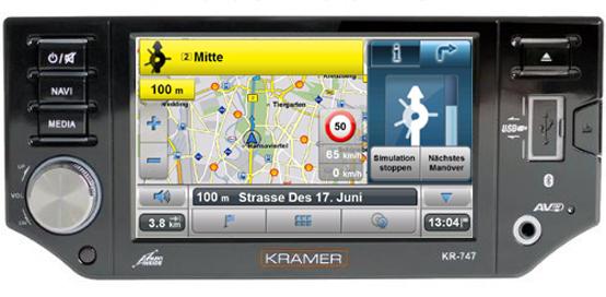 Krämer KR-747 1-DIN Radio-Navigationssystem - Einleitung - 1