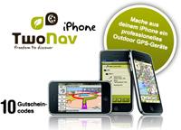 Die Gewinner der 10 TwoNav Lizenzen für das iPhone stehen fest...