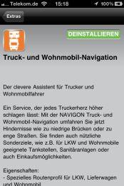 NAVIGON Truck und Camper Navigation fürs iPhone - Beschreibung: - 1