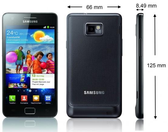 Samsung Galaxy SII – galaktisches Erlebnis - Technische Daten - 1