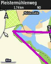 eTrex 30: Track-Linie auf Karte