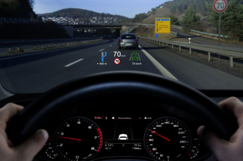 Head Up Display Der 2 Generation Von Continental F 252 R Den