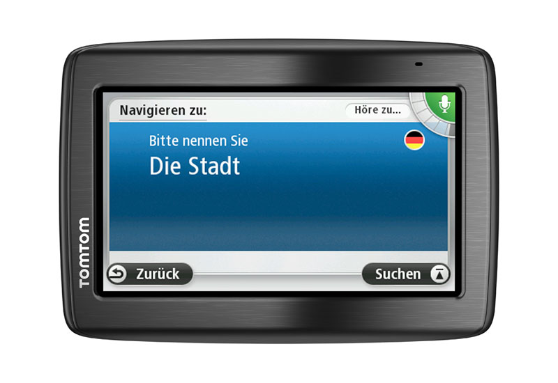 neue tomtom via modell mit speak go sprachsteuerung. Black Bedroom Furniture Sets. Home Design Ideas