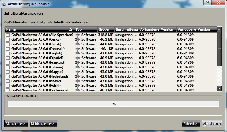 Kostenfreies update für medion gopal 6 im gopal assistant.