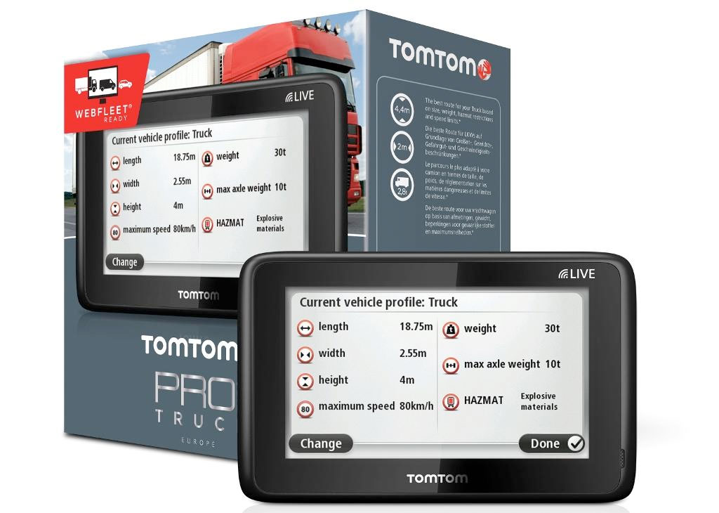 tomtom pro 5150 truck live navi f r selbstst ndige lkw. Black Bedroom Furniture Sets. Home Design Ideas