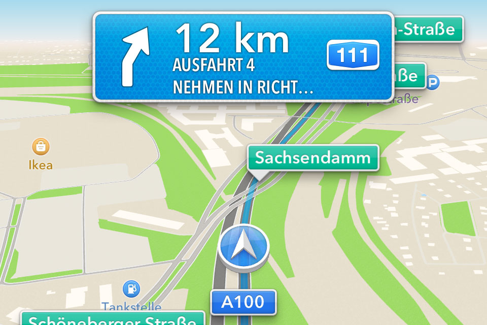 apples ios 6 karten app im test navigation gps blitzer pois. Black Bedroom Furniture Sets. Home Design Ideas