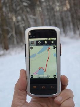 Spontane Planung über Waldwege: das tw700 liebt kurze Verbindungen