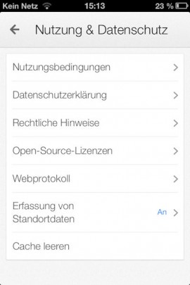 Google Maps iPhone Standorterfassung_2