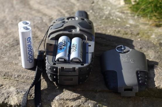 AA-Akkus im Outdoor GPS