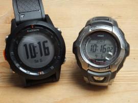 Vergleich Durchmesser Fenix und Casio G-Shock Digitaluhr