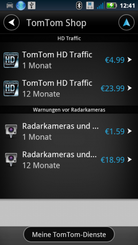 tomtom f r android im test seite 2 navigation gps blitzer pois. Black Bedroom Furniture Sets. Home Design Ideas