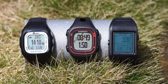 GPS-Uhren im Sonnenlicht