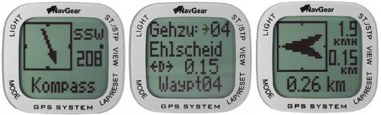 NavGear GW-145 Screens