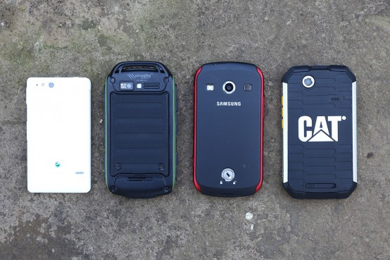 Outdoor Smartphones Rückseite