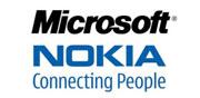 Logo von Nokia und Microsoft