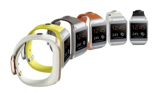 Samsung Galaxy Gear in verschiedenen Farben