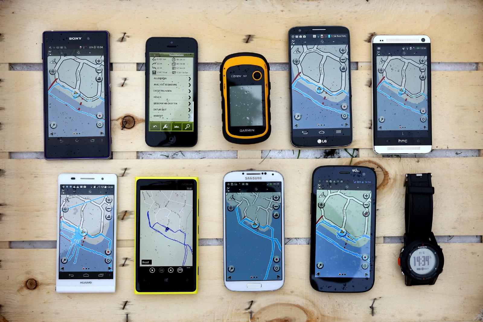 Top Smartphones Im Gps Vergleichstest Pocketnavigationde