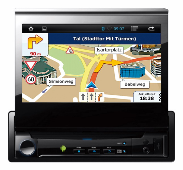 cebit neue 1 din android autoradios mit 7 zoll display navigation gps. Black Bedroom Furniture Sets. Home Design Ideas