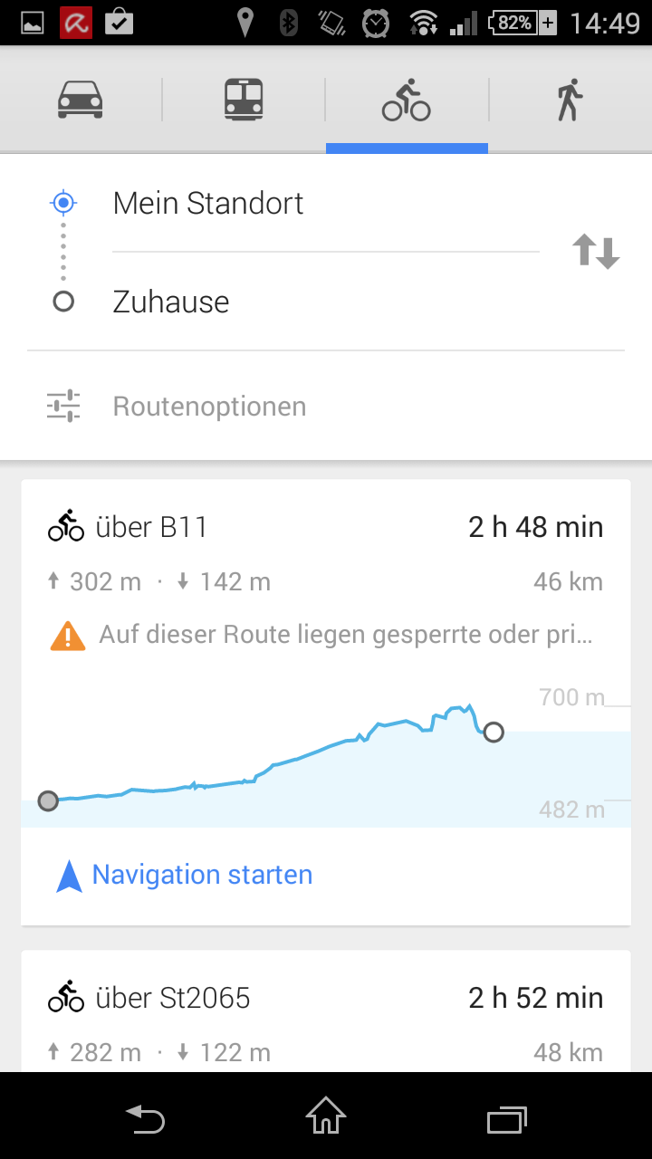 google maps update f r android mit h henprofil navigation gps. Black Bedroom Furniture Sets. Home Design Ideas