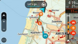 TomTom Traffic_Wetterinformationen in der Verkehrsleiste