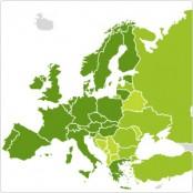 Abdeckung der KomTom-Karte in Europa