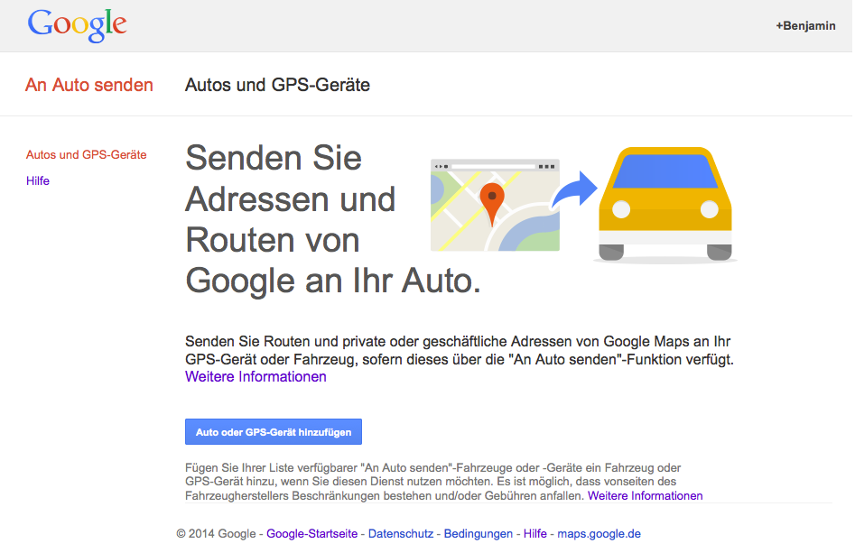 Google-Maps-An-Auto-Senden-URL