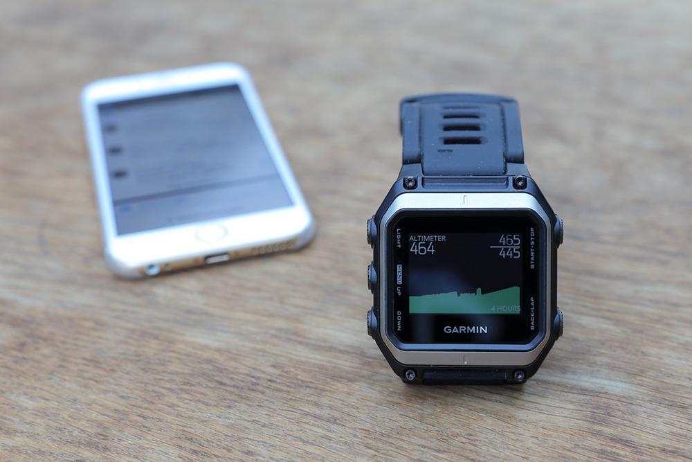garmin epix altimeter mit iPhone 6