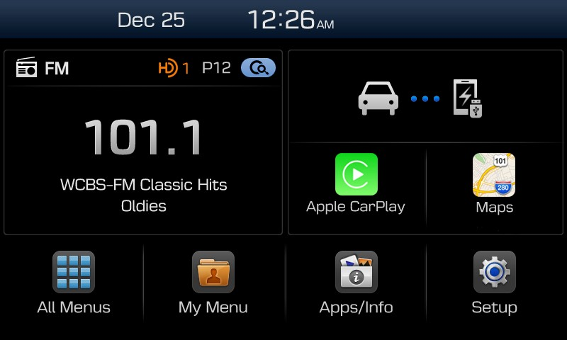 Apple CarPlay im Hyundai Display Audio System