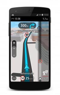 TomTom GO fuer Android_3D Navigationsansicht mit Blitzer