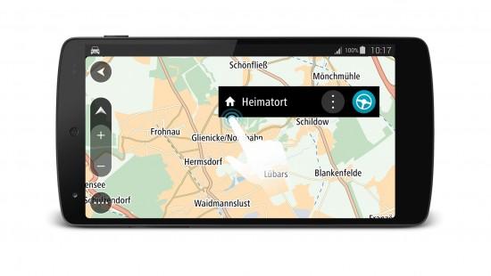 TomTom GO fuer Android_Interaktive Karte_Quer