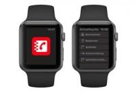Apple Watch mit der Das Telefonbuch App