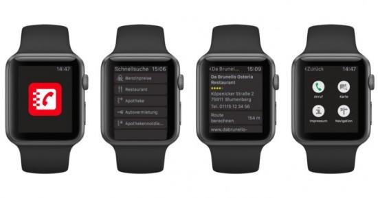 Das Telefonbuch auf der Apple Watch