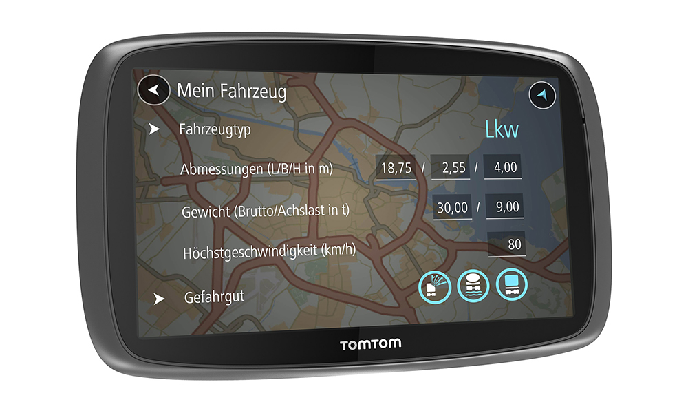 tomtom trucker 6000 neues navi f r lkw und busfahrer. Black Bedroom Furniture Sets. Home Design Ideas