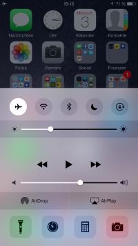 iOS83Flugmodus