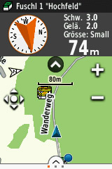 Garmin eTrex Touch 35 Kompass Geocachen