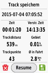 Garmin-eTrex-Touch-35-Track-Speichern