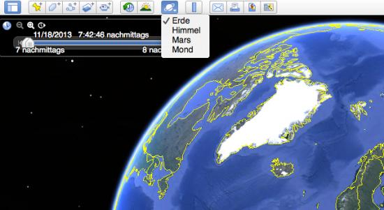 Google-Earht-Mond-Mars